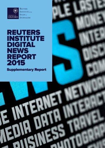 Supplementary Digital News Report 2015