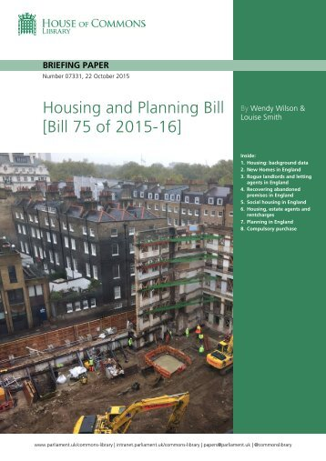 Housing and Planning Bill [Bill 75 of 2015-16]