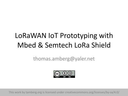 LoRaWAN IoT Prototyping with Mbed & Semtech LoRa Shield