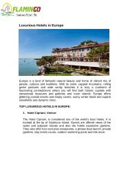 Luxurious Hotels in Europe