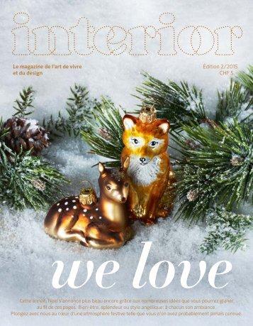interior Noël - we love