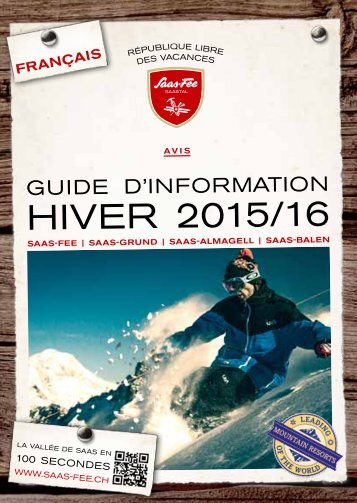 Guide d'information - Hiver 2015/2016