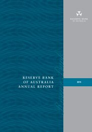 RESERVE BANK OF AUSTRALIA ANNUAL REPORT