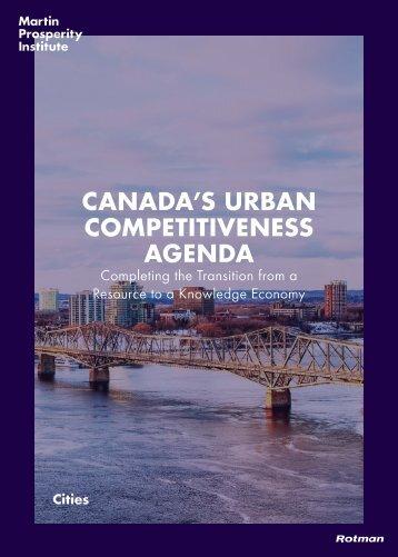 CANADA'S URBAN COMPETITIVENESS AGENDA