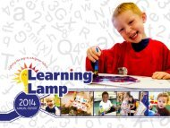 The Learning Lamp - Annual Report 2014