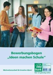 """Bewerbungsbogen """"Ideen machen Schule"""" - Volksstimme"""