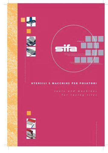 Utensili posatori - SIFA S.p.A.