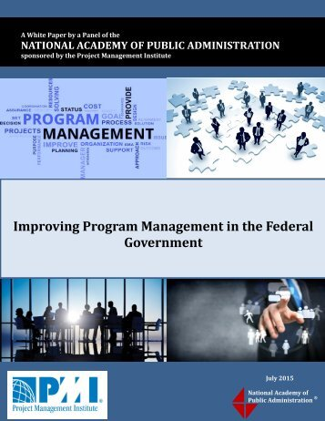 Improving Program Management in the Federal Government