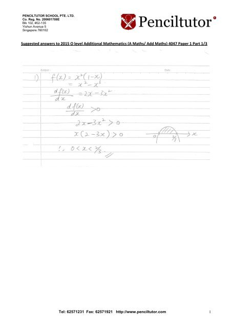 Singapore Additional Mathematics Past Papers - Tips and