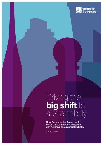 big shift to sustainability