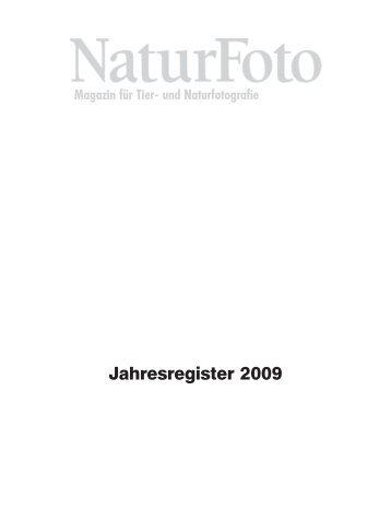 NaturFoto Jahresregister 2009 - Tecklenborg Verlag
