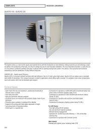 QUADRO 160 / QUADRO 200 Technical Features