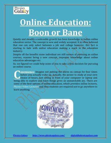Online Education: Boon or Bane