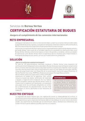 CERTIFICACIÓN ESTATUTARIA DE BUQUES