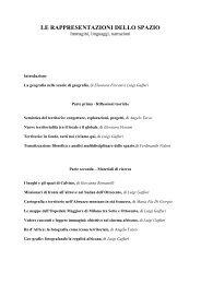 Le rappresentazioni dello spazio - Universita degli studi di Ferrara