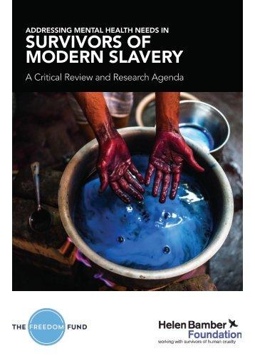 SURVIVORS OF MODERN SLAVERY