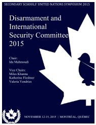 Disarmament and International Security Committee 2015