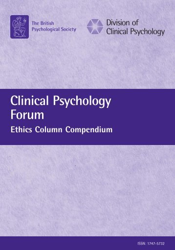 Clinical Psychology Forum