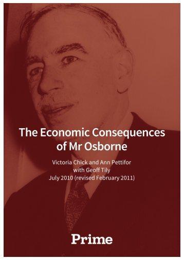 The Economic Consequences of Mr Osborne