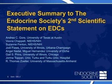 Statement on EDCs