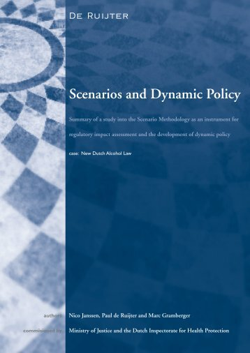 Scenarios and Dynamic Policy - Investment Climate