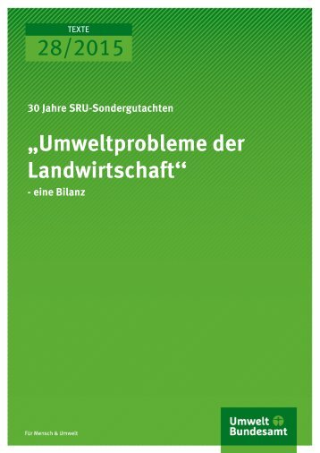 """28/2015 """"Umweltprobleme der Landwirtschaft''"""
