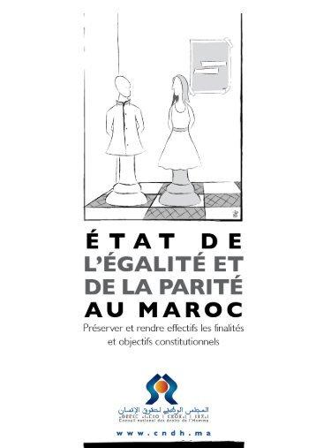 ÉTAT DE L'ÉGALITÉ ET DE LA PARITÉ AU MAROC