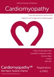 A one day seminar for nurses on the diagnosis and management of cardiomyopathy