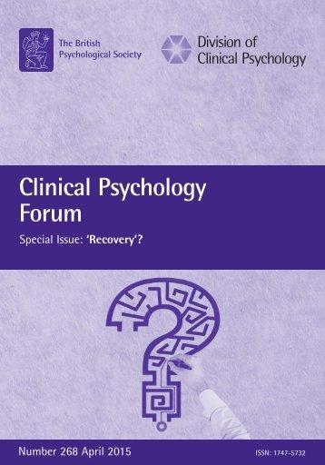 Clinical Psychology Forum
