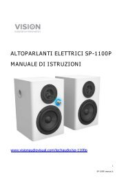 ALTOPARLANTI ELETTRICI SP-1100P MANUALE DI ISTRUZIONI