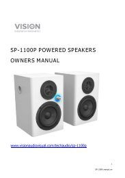 SP-1100P POWERED SPEAKERS OWNERS MANUAL