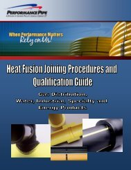 PP 750 Fusion Procedures and Qualification ... - Performance Pipe