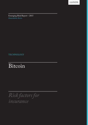 Bitcoin Risk factors for insurance