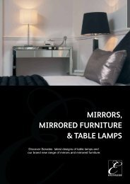 MIRRORS, MIRRORED FURNITURE & TABLE LAMPS - WF Senate