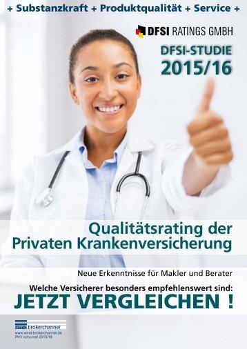 DFSI-STUDIE 2015/16: Qualitätsrating der Privaten Krankenversicherung