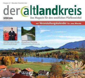 der altlandkreis - das Magazin - Ausgabe 32 - November/Dezember 2015