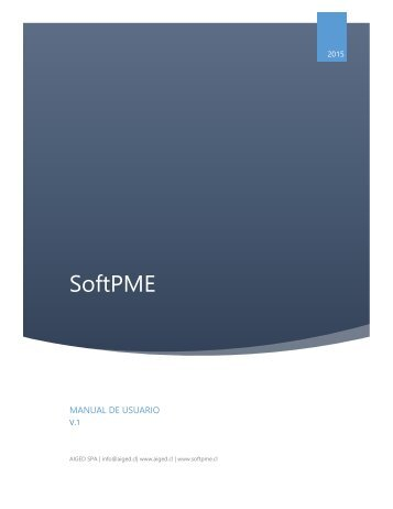 Manual de Usuario SoftPME