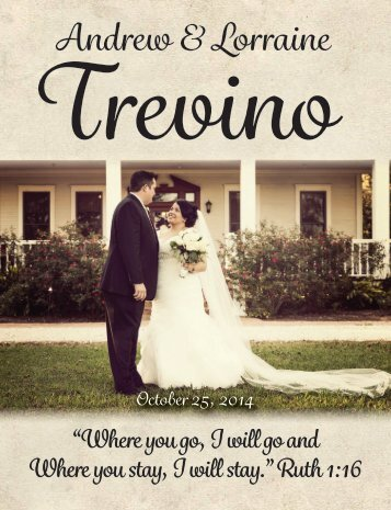Trevino-Lopez Wedding