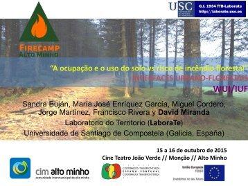 """A ocupação e o uso do solo vs risco de incêndio florestal"""": INTERFACES URBANO-FLORESTAIS (WUI/IUF)"""