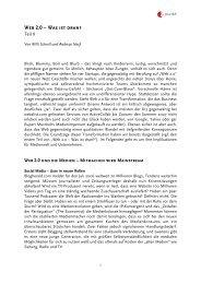 Web 2.0 – Was ist dran? - Z_punkt