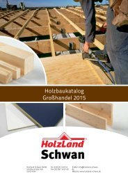 HolzLand Schwan Holzbaukatalog Großhandel 2015
