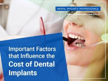 Factors Affecting the Cost of Dental Implants in Sydney