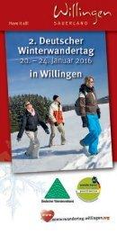 2. Deutscher Winterwandertag in Willingen