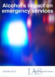 Alcohol's impact on emergency services