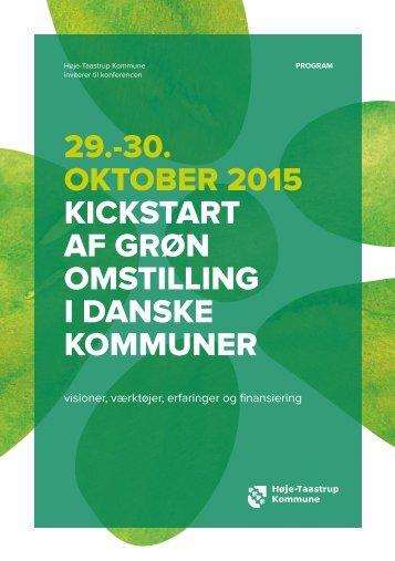 29.-30 OKTOBER 2015 KICKSTART AF GRØN OMSTILLING I DANSKE KOMMUNER