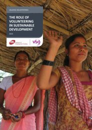 THE ROLE OF VOLUNTEERING IN SUSTAINABLE DEVELOPMENT