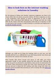 Idea to look best on the internet washing solutions in Laundry