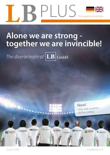 LB Plus-Alone we are strong - together we are invincible