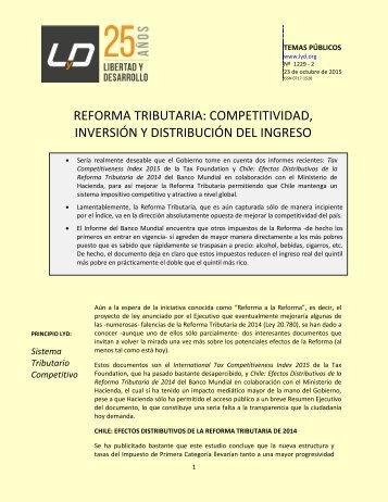 REFORMA TRIBUTARIA COMPETITIVIDAD INVERSIÓN Y DISTRIBUCIÓN DEL INGRESO