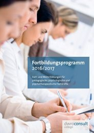 DWRO-consult Fortbildungsprogramm 2016/2017